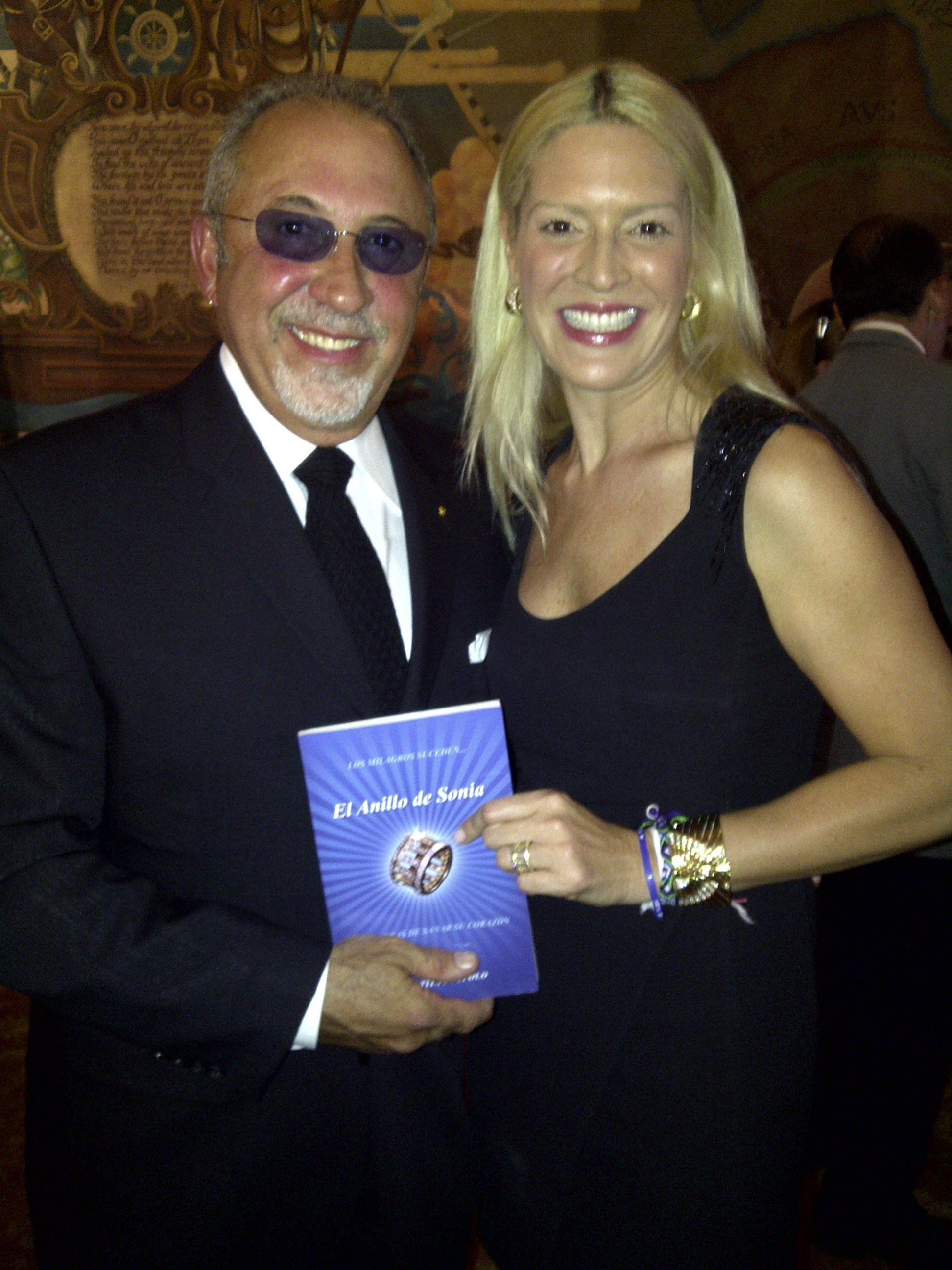 Sharing SONIA'S RING with Emilio Estefan at the Miami National Museum of American Latino Event at The Freedom Tower of Miami Da.