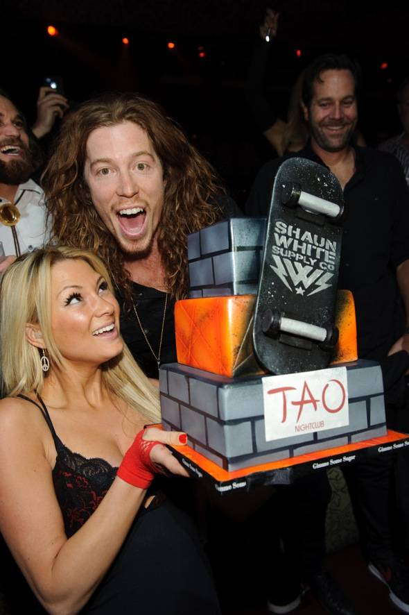 Olympic gold medalist, Shaun White, parties at TAO Nightclub