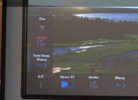 check-out-the-golf-course-background-on-the-remote-the-t-button-is-a-shortcut-to-trumps-favorite-movies