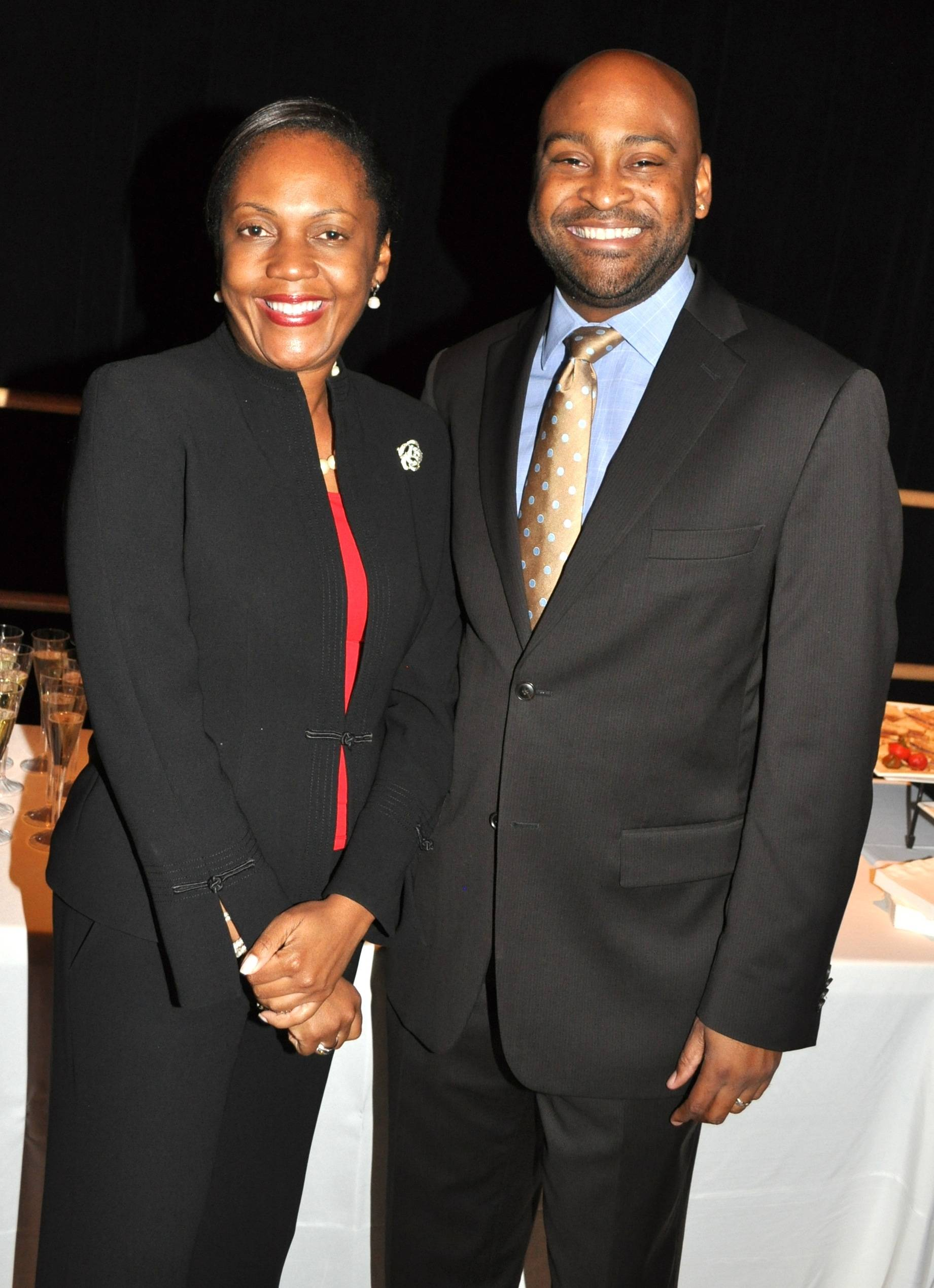 10) Valerie Riles and Senator Oscar Braynon