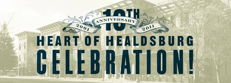 10th anniversary Healdsburg