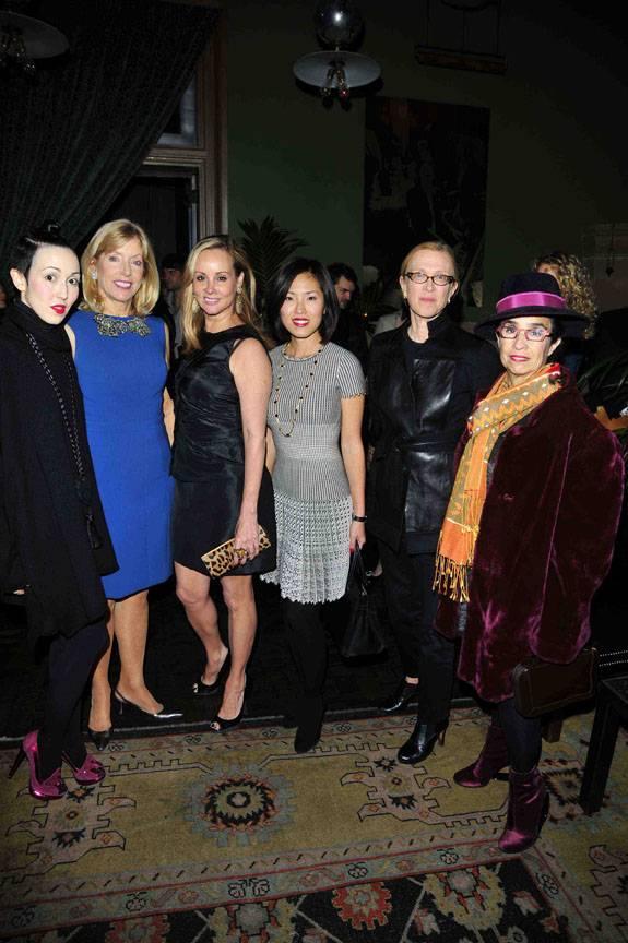 CC FIT Fall Cocktail- Michelle Harper, Liz Peek, Yaz Hernandez, Ji Eun Wax, Susan Posen, and Valerie Steele
