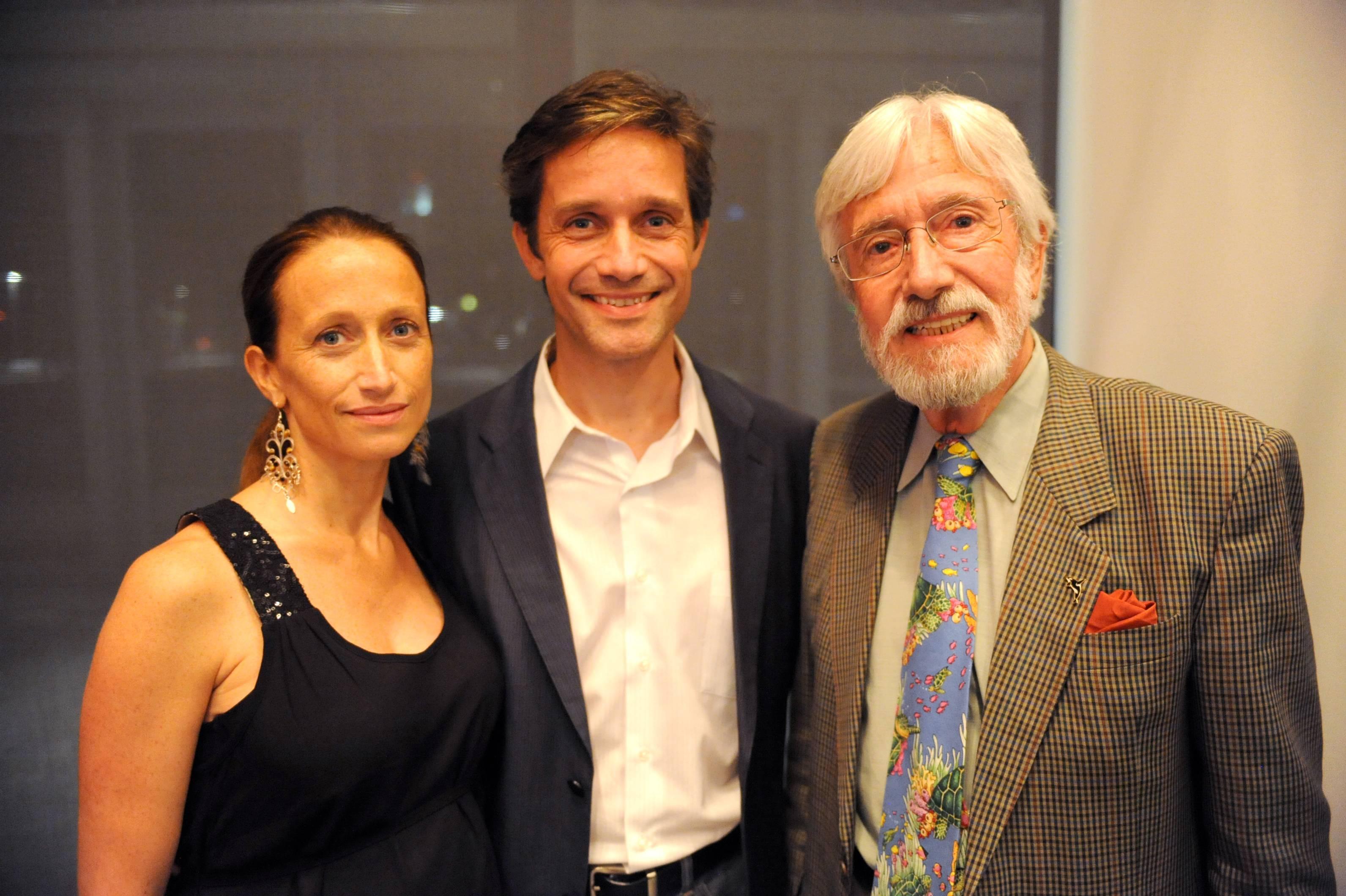 Celine, Fabien, & Jean Michel Cousteau