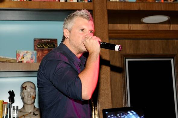 Heath Burgett performs at Marquee Celebrity Karaoke.