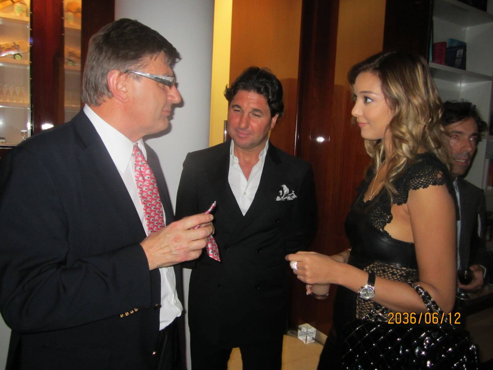 Geox owner, italian billionaire Mario Moretti Polegato, Giorgio Veroni and Noela