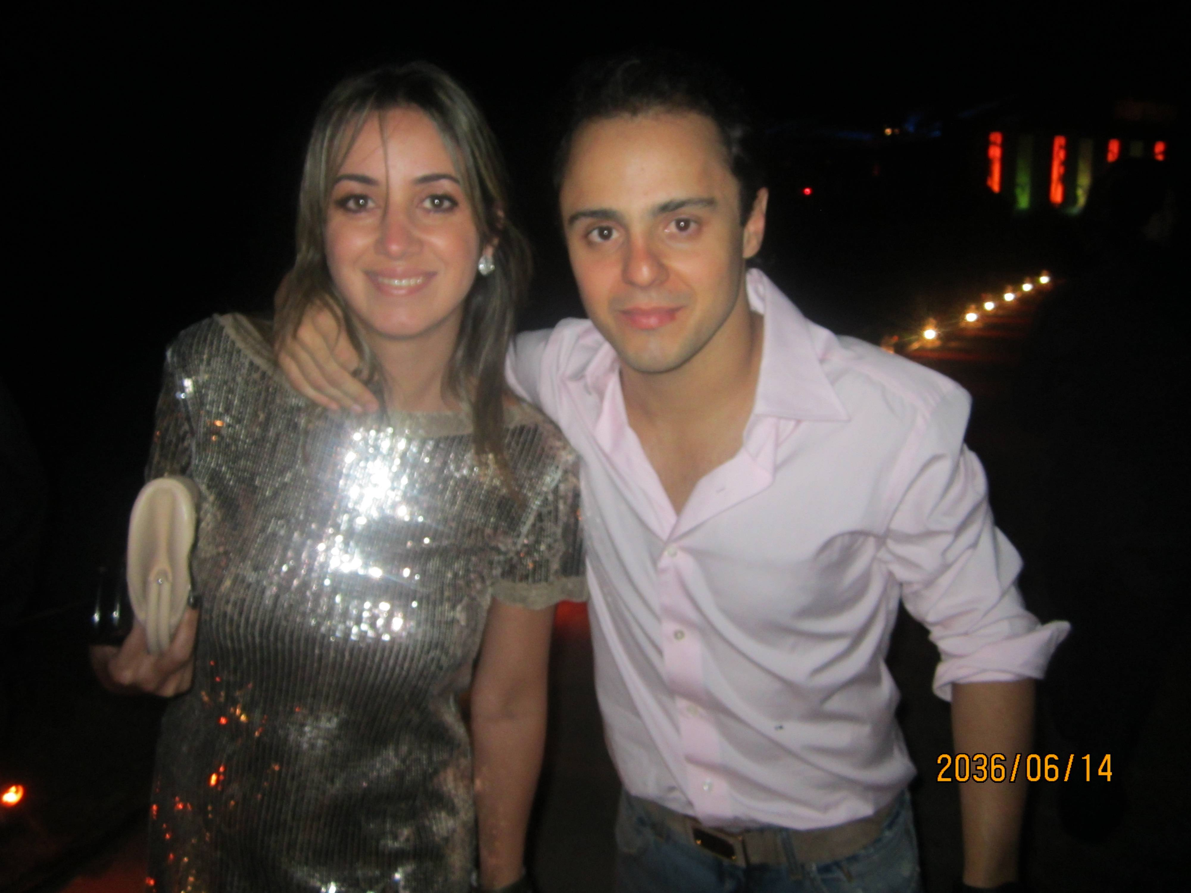 Felipe Massa and partner