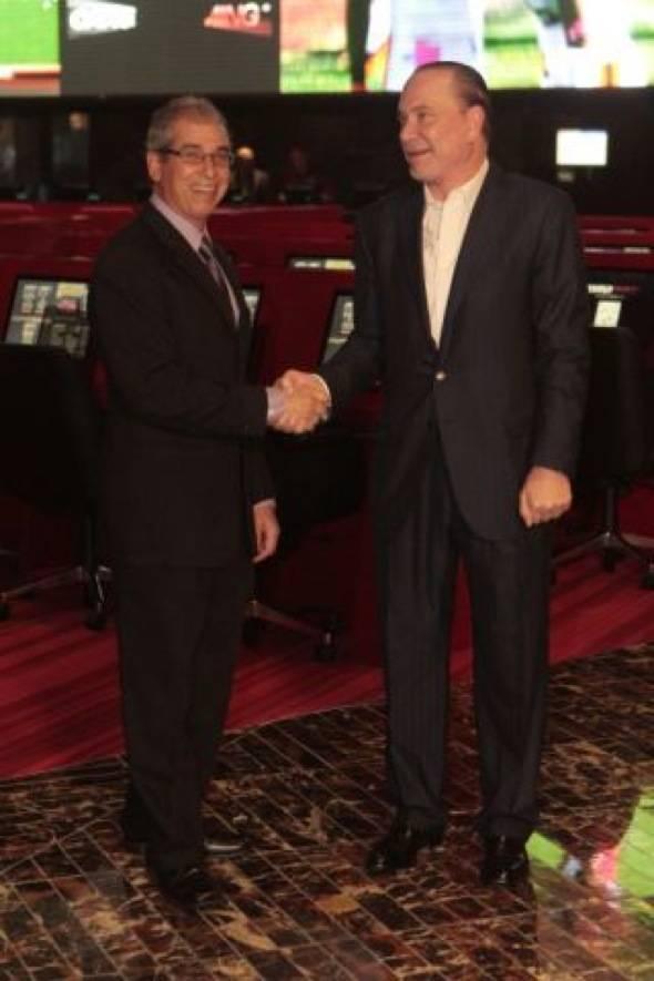 John Caparella and Lee Amaitis Shaking Hands