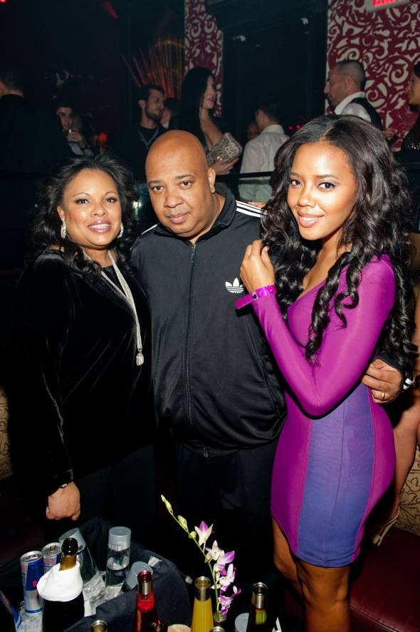 Justine Simmons, REV RUN, and Angela Simmons