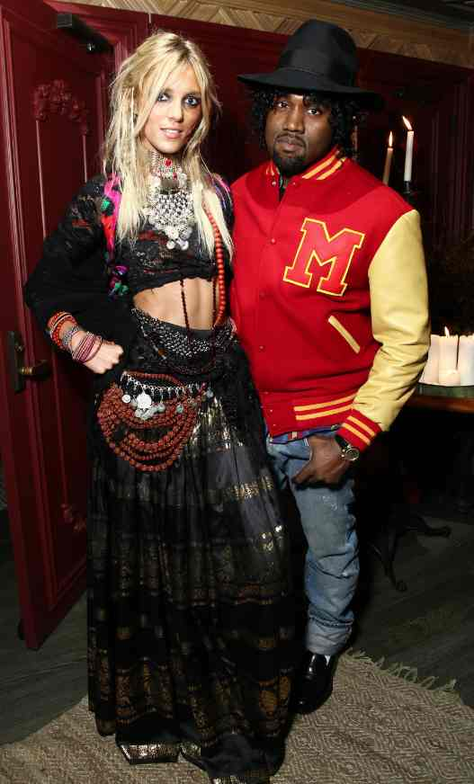 Kanye West and Anja Rubik at  Gypsy Halloween at The Darby[3]
