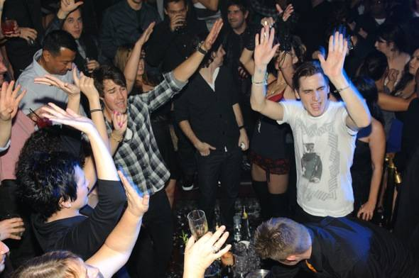 Kendall Schmidt celebrates his birthday at Tao.