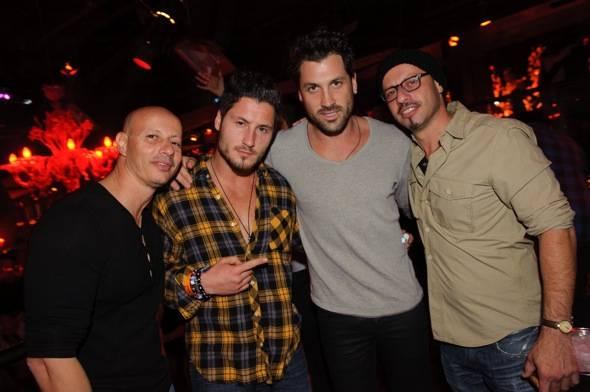 Maksim Chmerkovskiy and friends at TAO