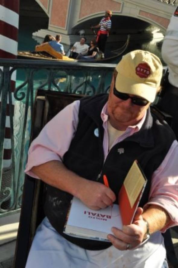 Mario Batali Signing Book