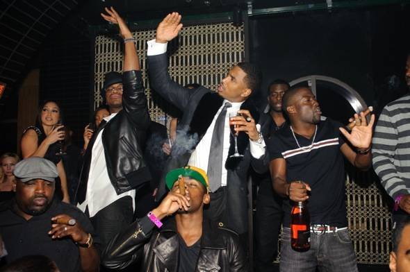 Ne Yo_Trey Songz_ Kevin Hart at LAVO