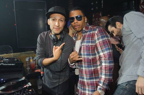 Nelly and DJ Vice at Tao 11.12.11