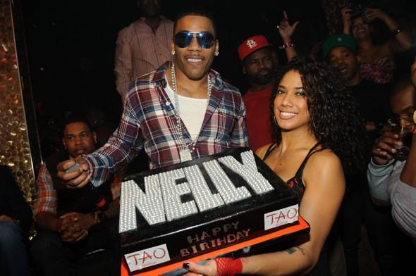 Nelly and cake at Tao 11.12.11