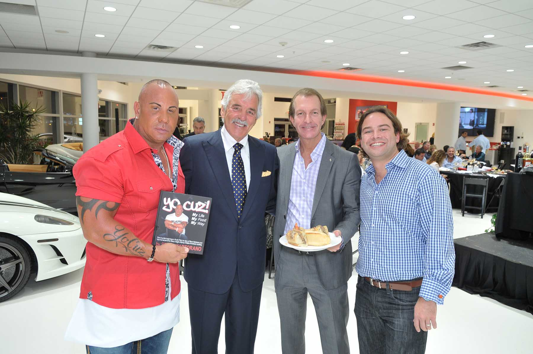 Great FERRARI MASERATI OF FORT LAUDERDALE HOSTED AN EXCLUSIVE DINNER PARTY WITH  ACTOR DENNIS FARINA AND CELEBRITY COOK STEVE MARTORANO   Haute Living