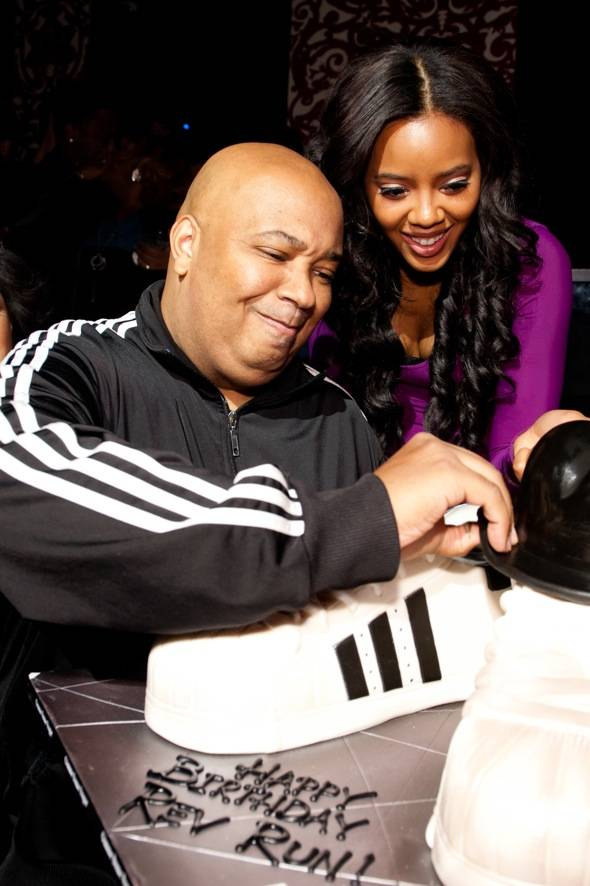 REV RUN and Angela Simmons.