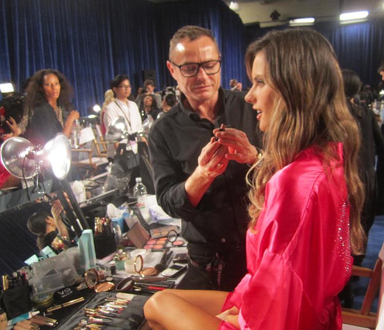 Alessandra Ambrosio backstage