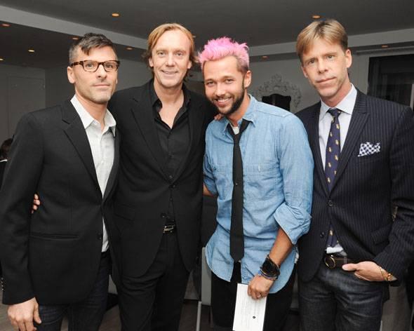 Benjamin Bashein, Philippe Kjellgren, Chris Benz, and ACRIA's Stewart Shining