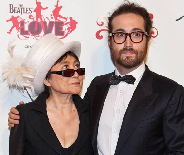 Yoko Ono Lennon and Sean Lennon