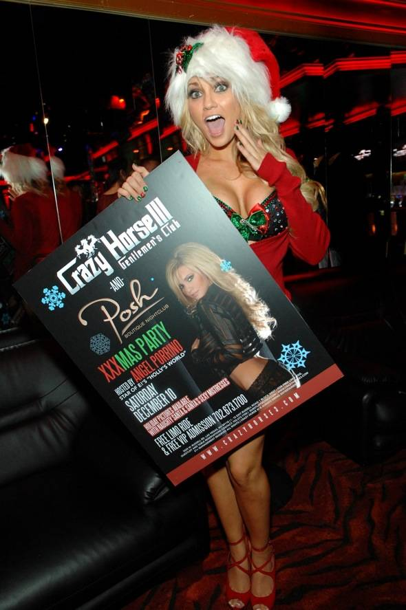 Angel Porrino with poster