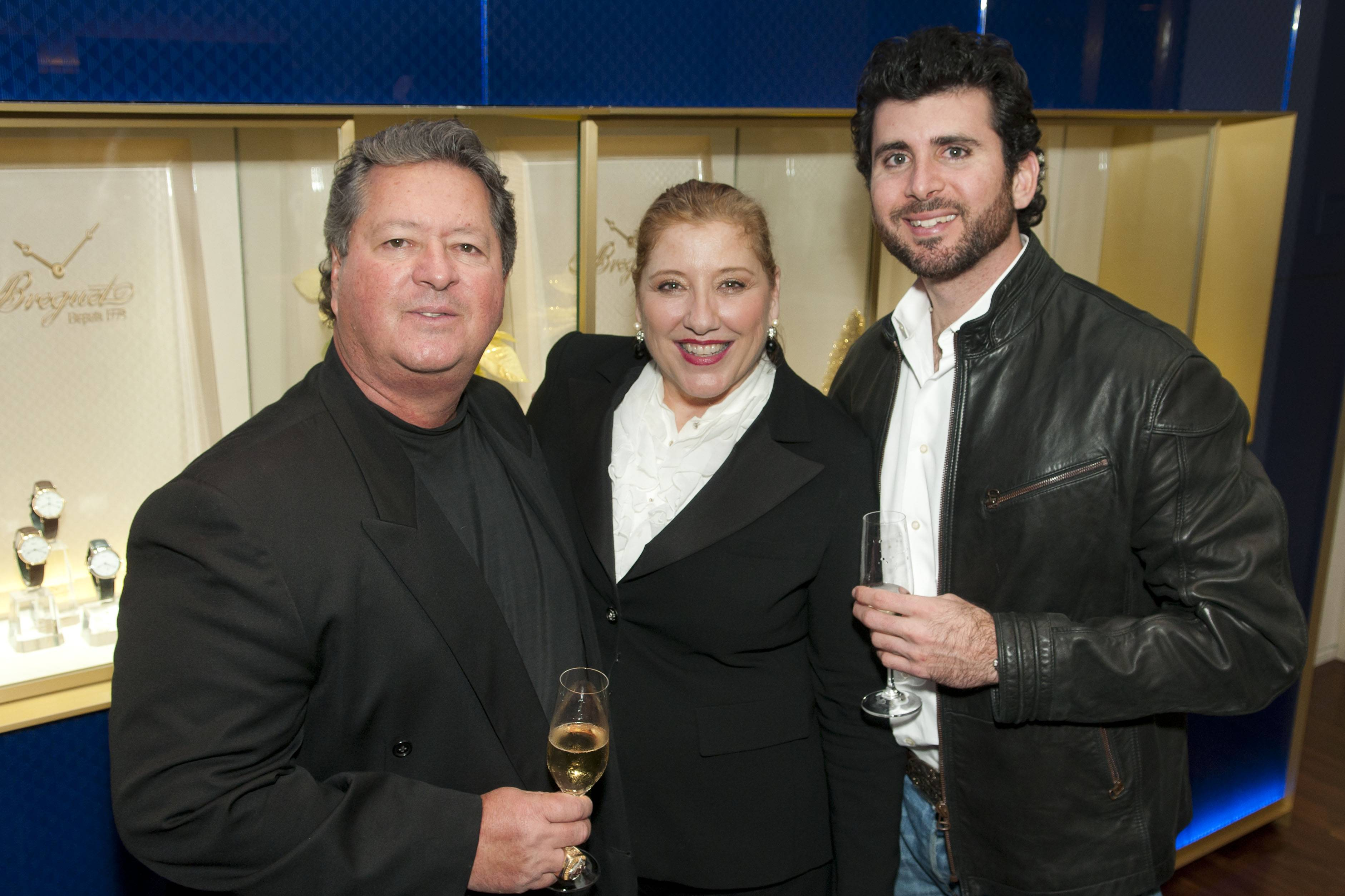 Breguet Bal Harbour Opening - Charlie Gonzalez, Kathy Gonzalez and Dylan Gonzalez