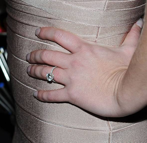 Britney Spears round-cut engagement ring from Neil Lane