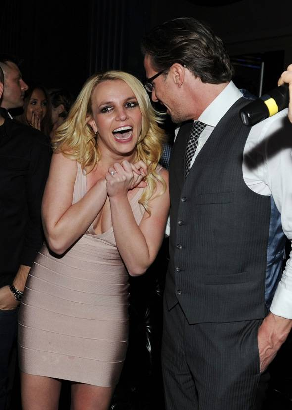 Britney and Jason share a laugh at Chateau
