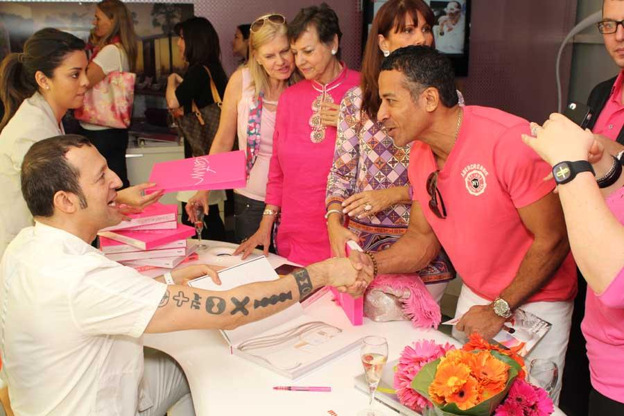 Karim Rashid.Book signing
