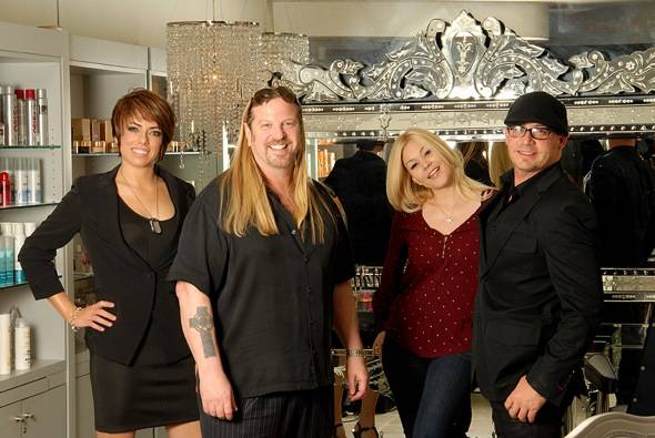 Michael Boychuck and Shanna Moakler with Team