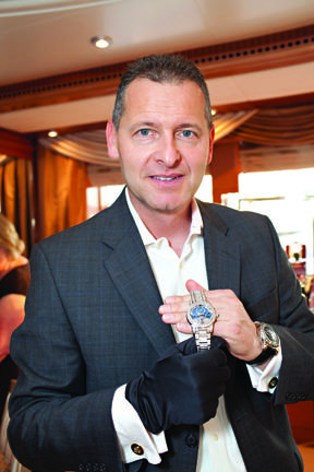 Patrik Hoffmann with 1.1 Million Dollar Royal Tourbillion Timepiece