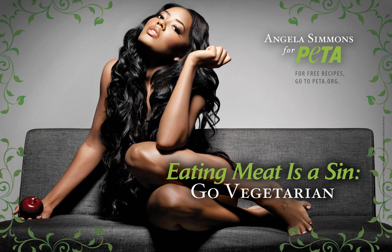 Angela Simmons: Eat From the Garden. Choose Vegetarian.: