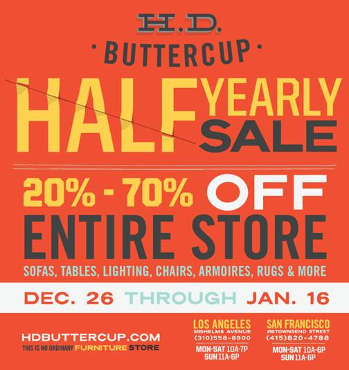 Bring In The New Year With Sweet Savings From HD Buttercup, San Franciscou0027s  Premiere Destination For Fantastic Furniture.