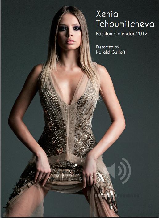 COVER xenia tchoumitcheva fashion calendar 2012