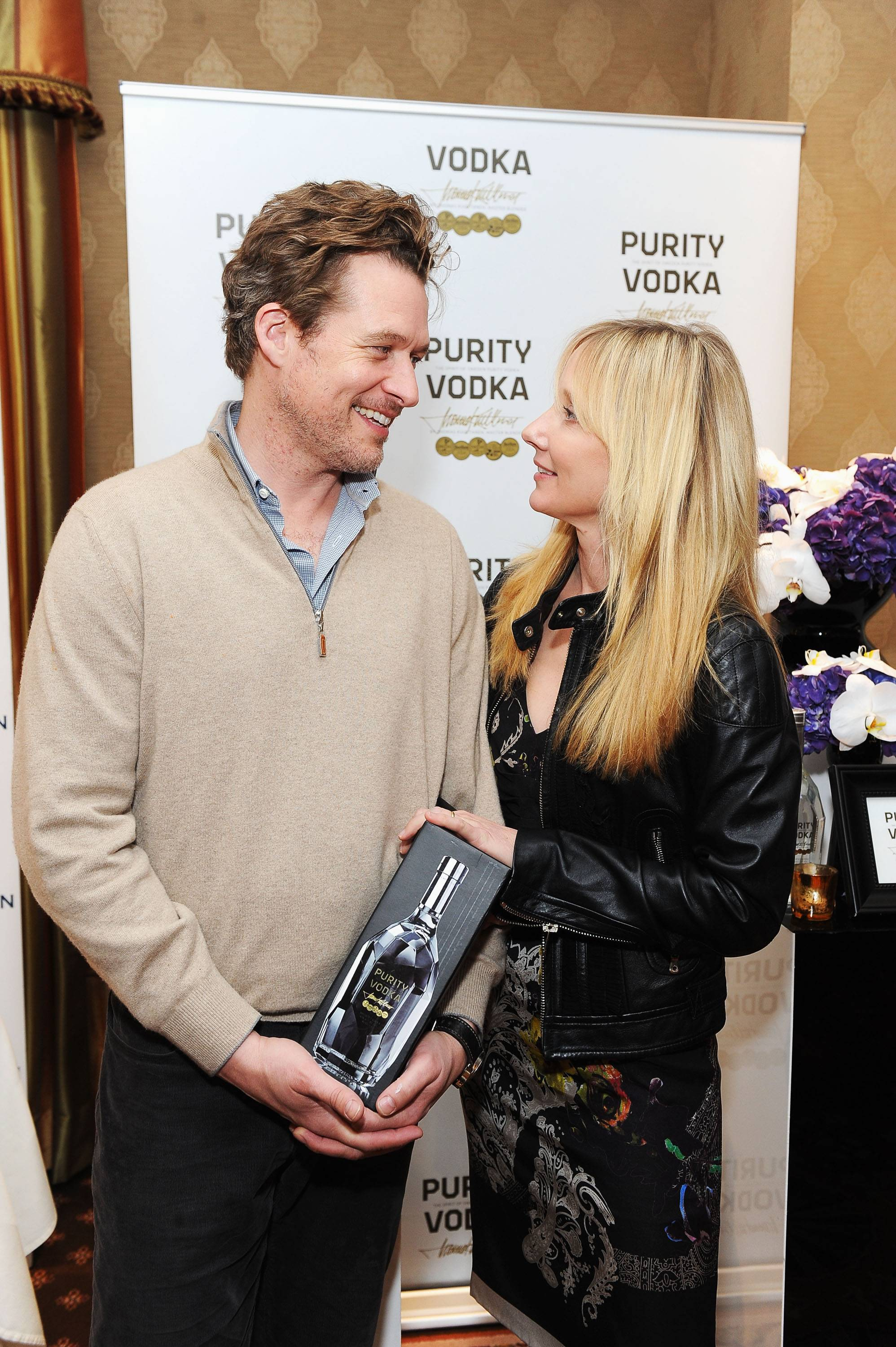 Anne Heche and James Tupper at the HBO Luxury Lounge in Honor of the 69th Golden Globe Awards sponsored by Purity Vodka