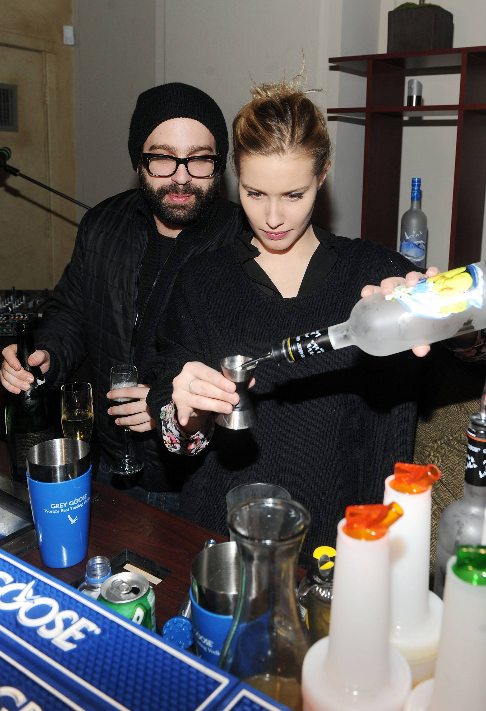 Antonio Campos and Lila Salet at the Simon Killer Dinner Party at the GREY GOOSE Blue Door at Sundance 1-21-12