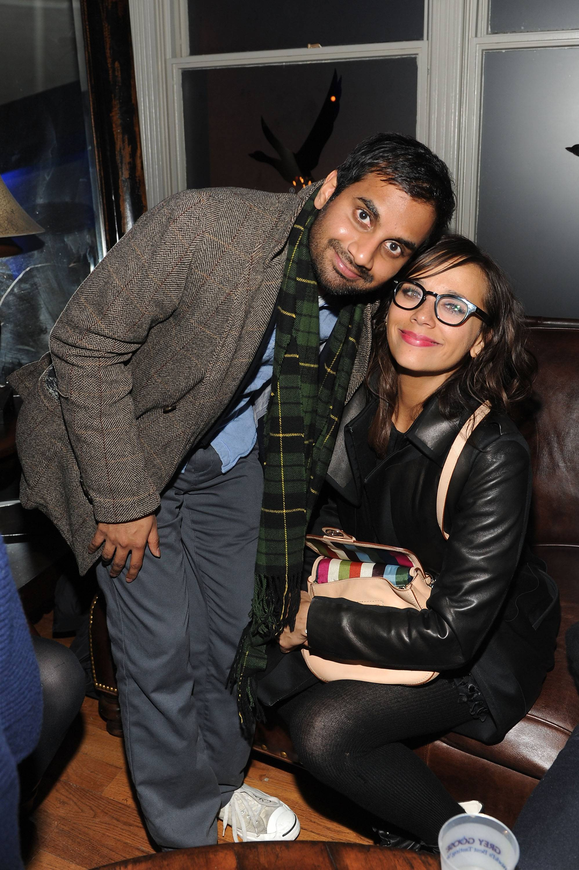 Aziz Ansari and Rashida Jones at