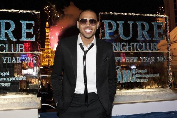 Chris Brown_Fireworks_PURE Nightclub_12.31.11
