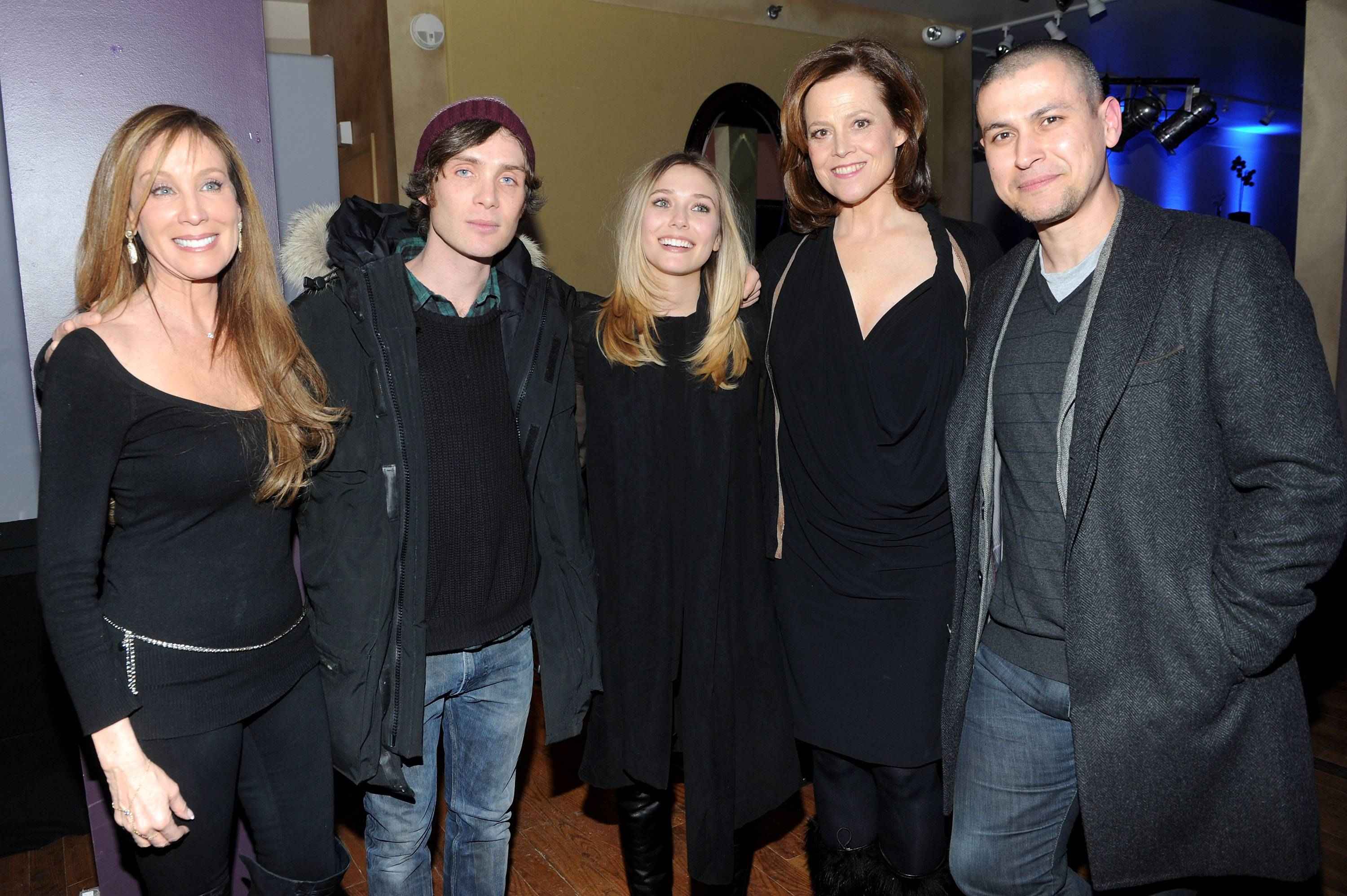 Cindy Cowan, Cillian Murphy, Elizabeth Olsen, Sigourney Weaver and Rodrigo Cortes at the