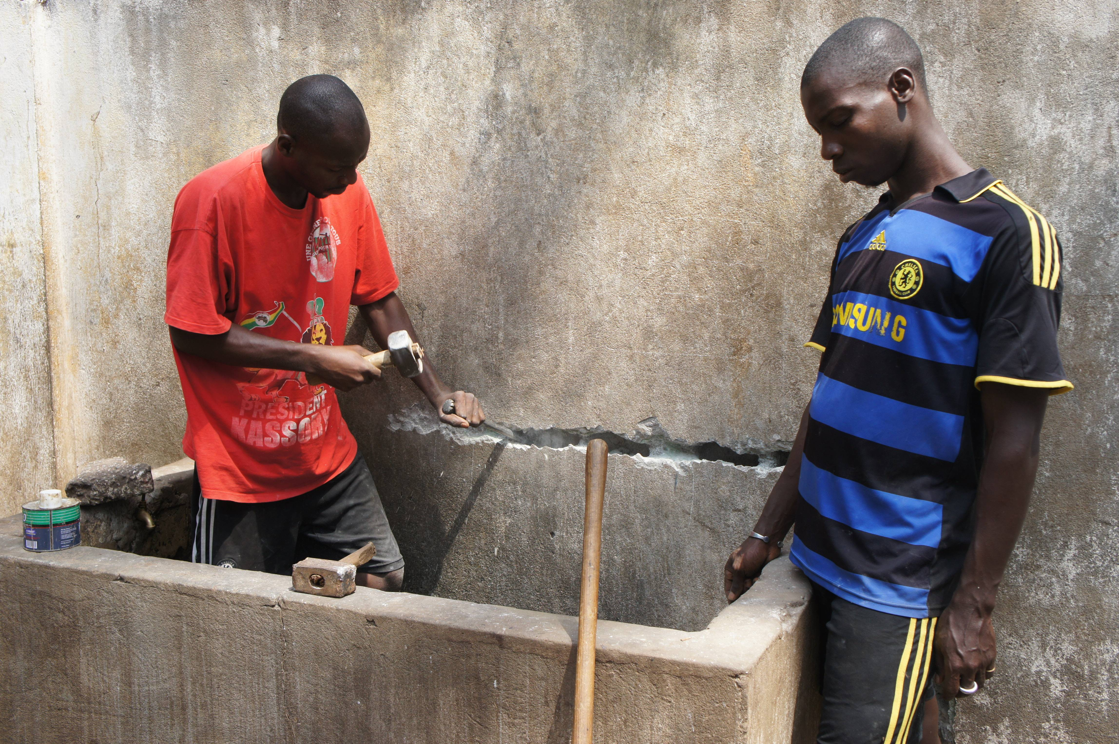 Guinean Construction Workers