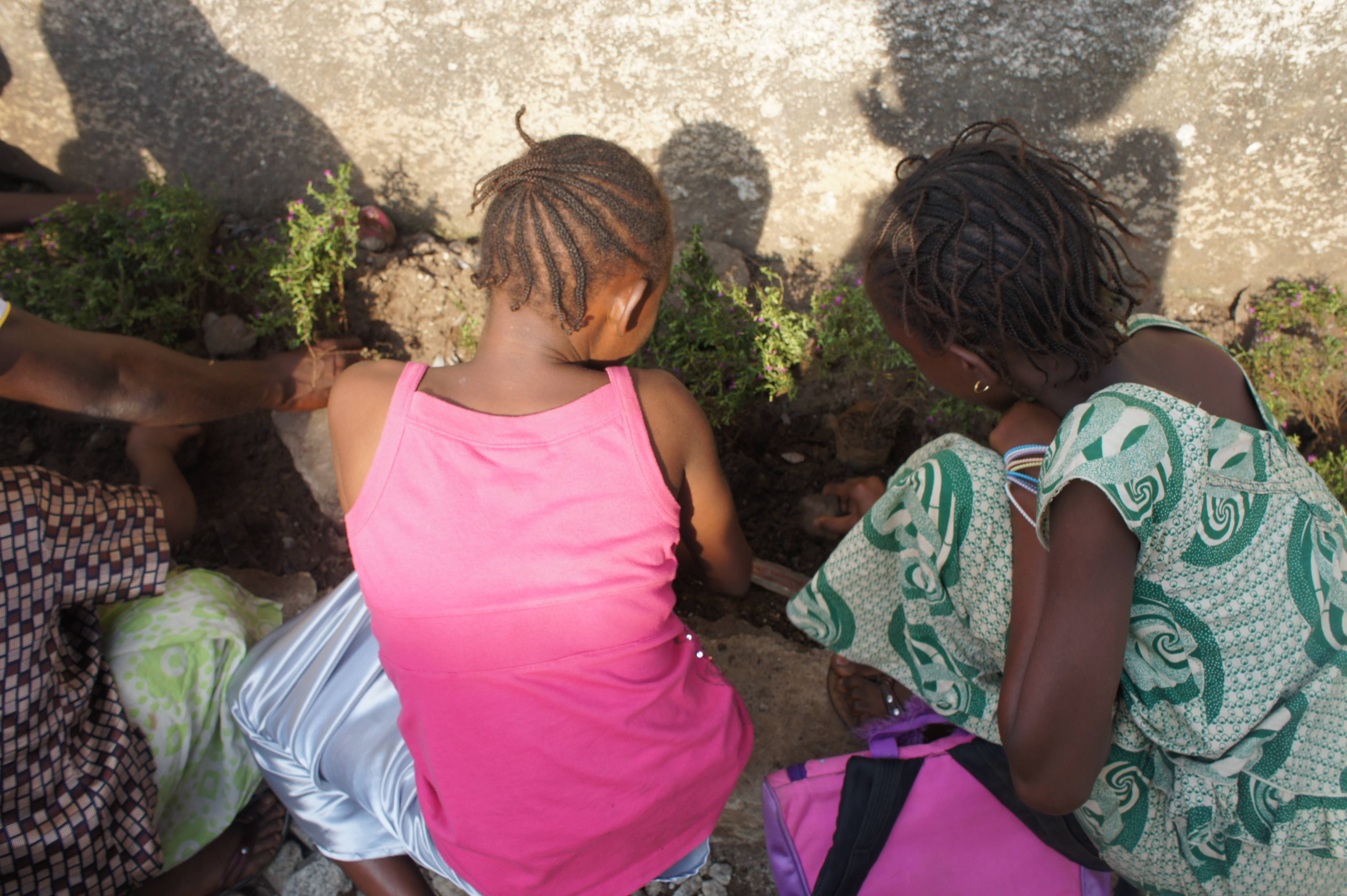 Students Planting Flowers at Tombo II Primary School in Guinea
