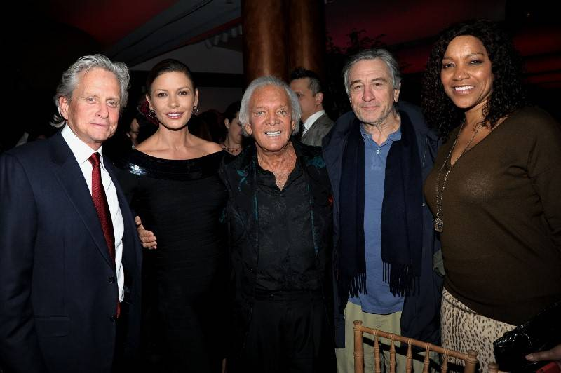 Michael Douglas, Catherine Zeta-Jones, Marty Richards, Robert DiNiro, Grace Hightower