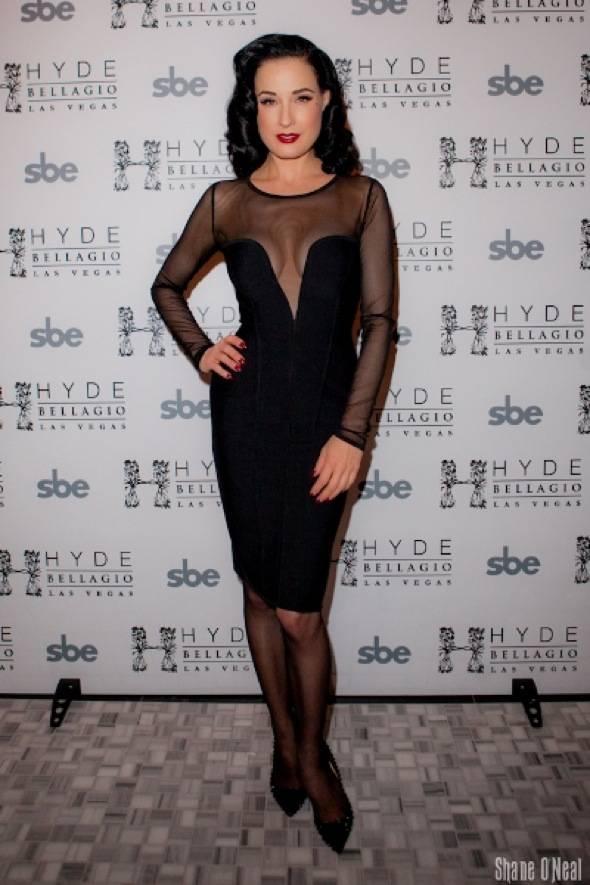 Dita Von Teese on Red Carpet at Hyde Bellagio, Las Vegas, 1.14.12