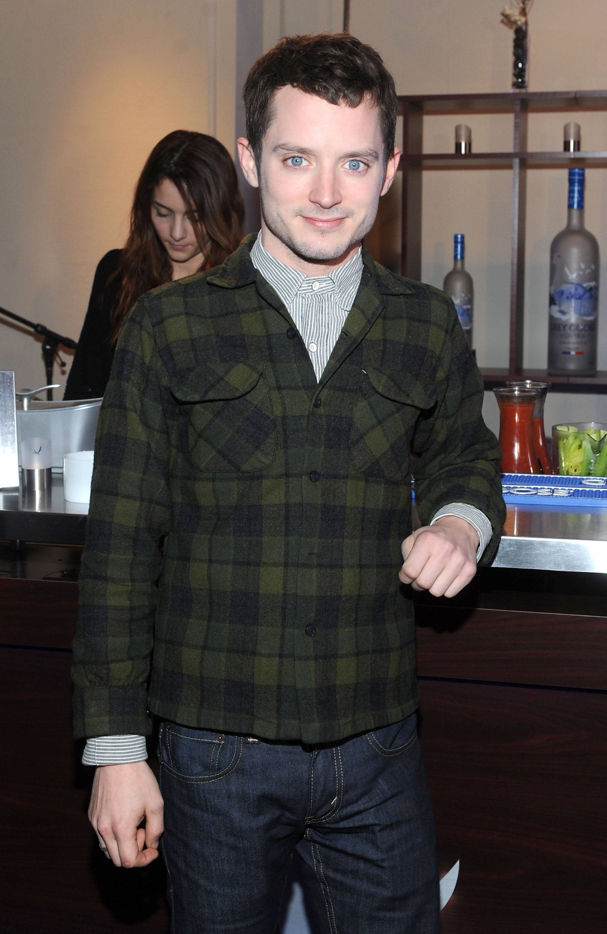 Elijah Wood at the GREY GOOSE Blue Door at Sundance on Friday 1-20-12