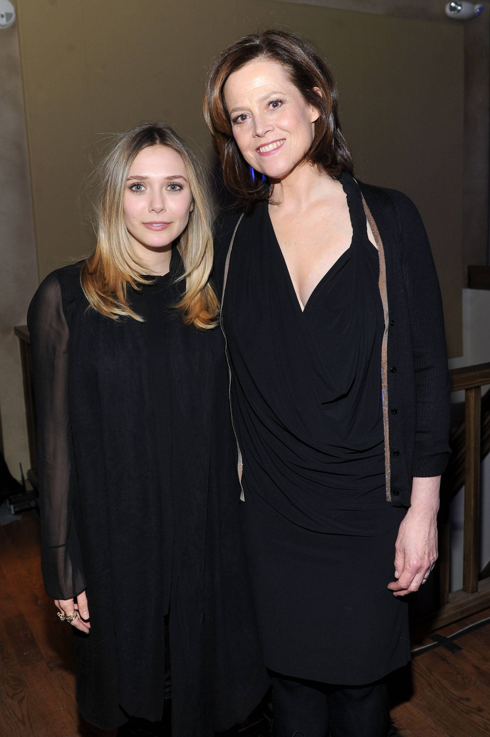 Elizabeth Olsen and Sigourney Weaver at