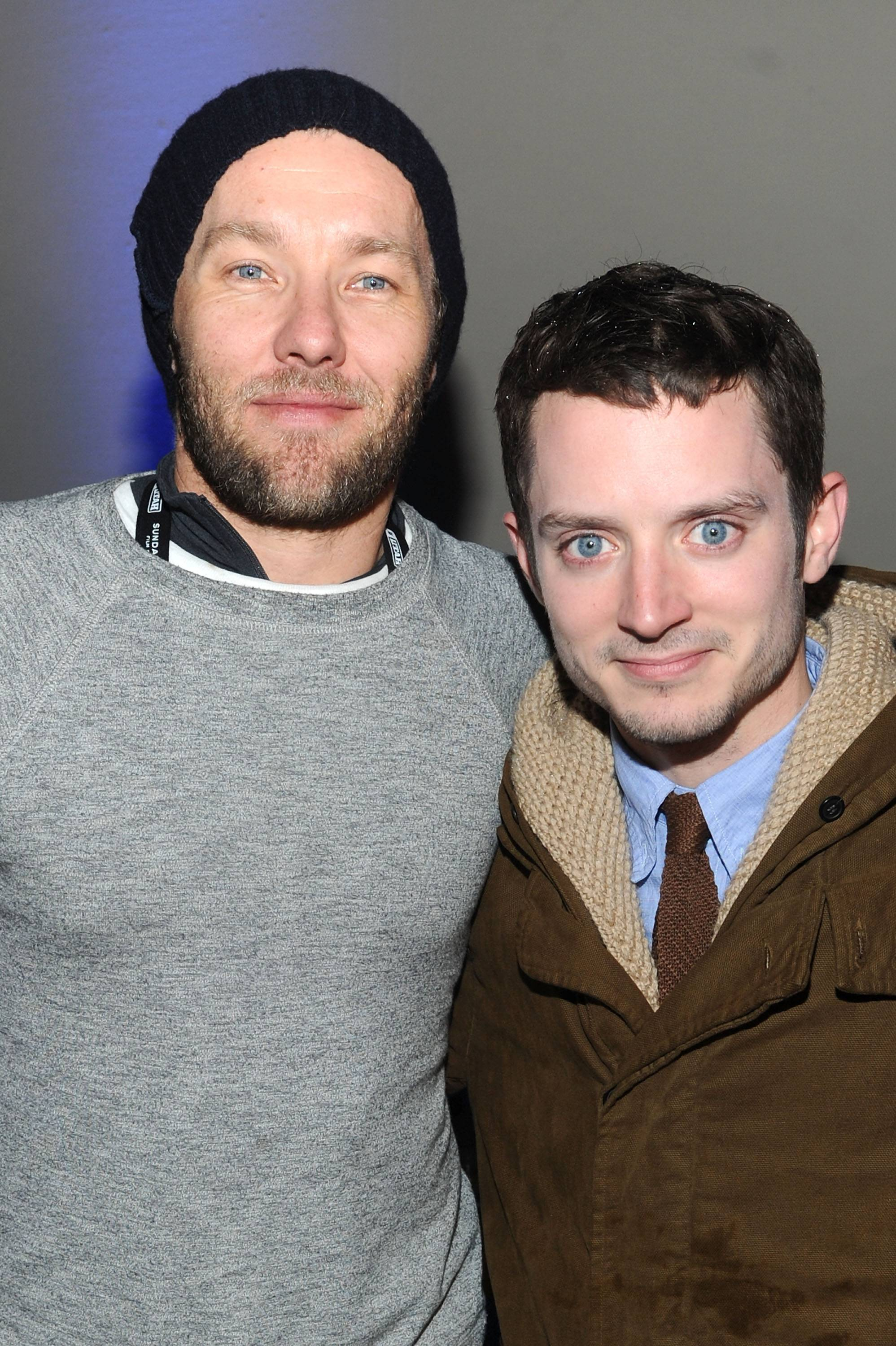 Joel Edgerton and Elijah Wood at