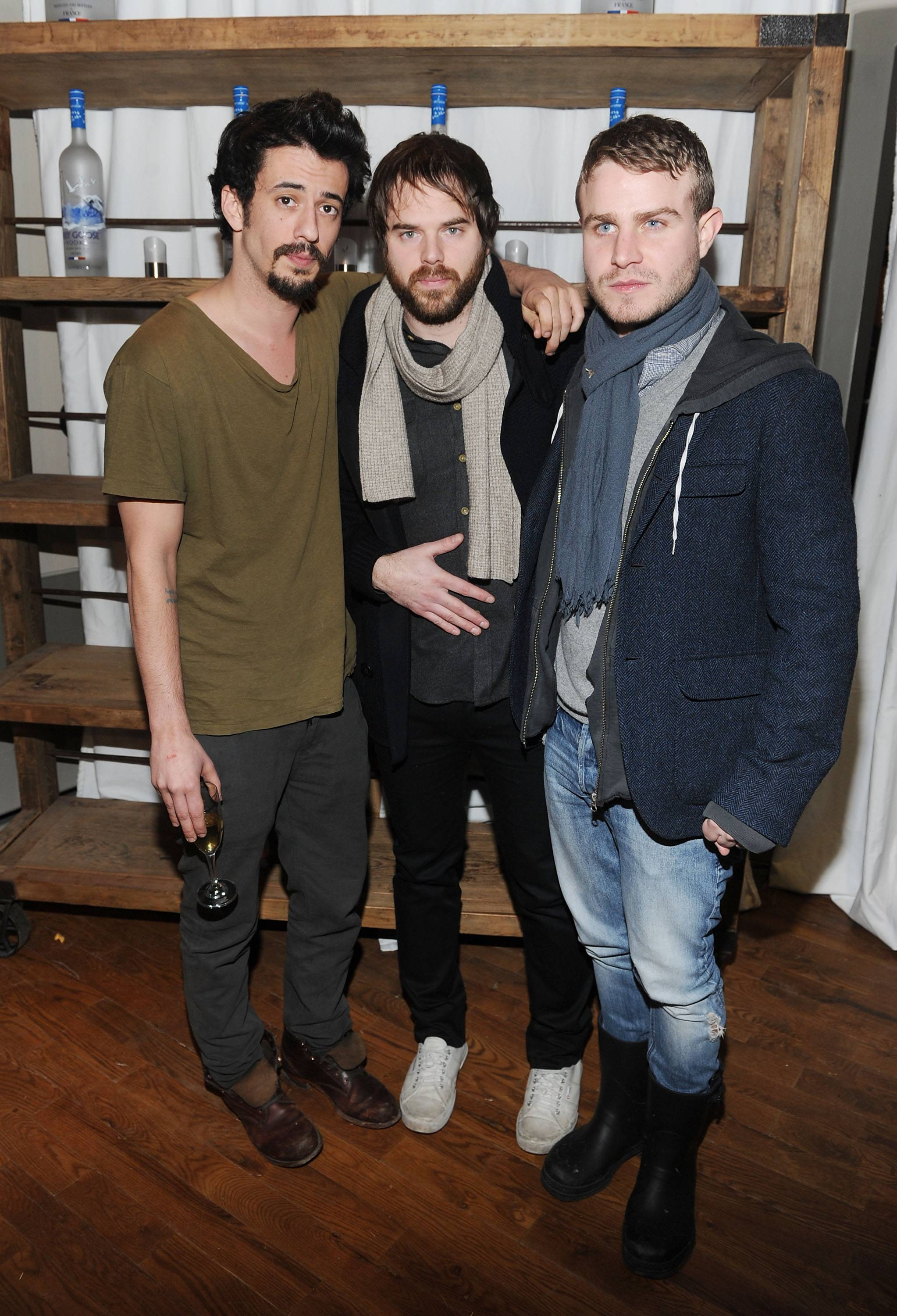 Josh Mond, Sean Durkin and Brady Corbet at the Simon Killer Dinner Party at the GREY GOOSE Blue Door at Sundance 1-21-12