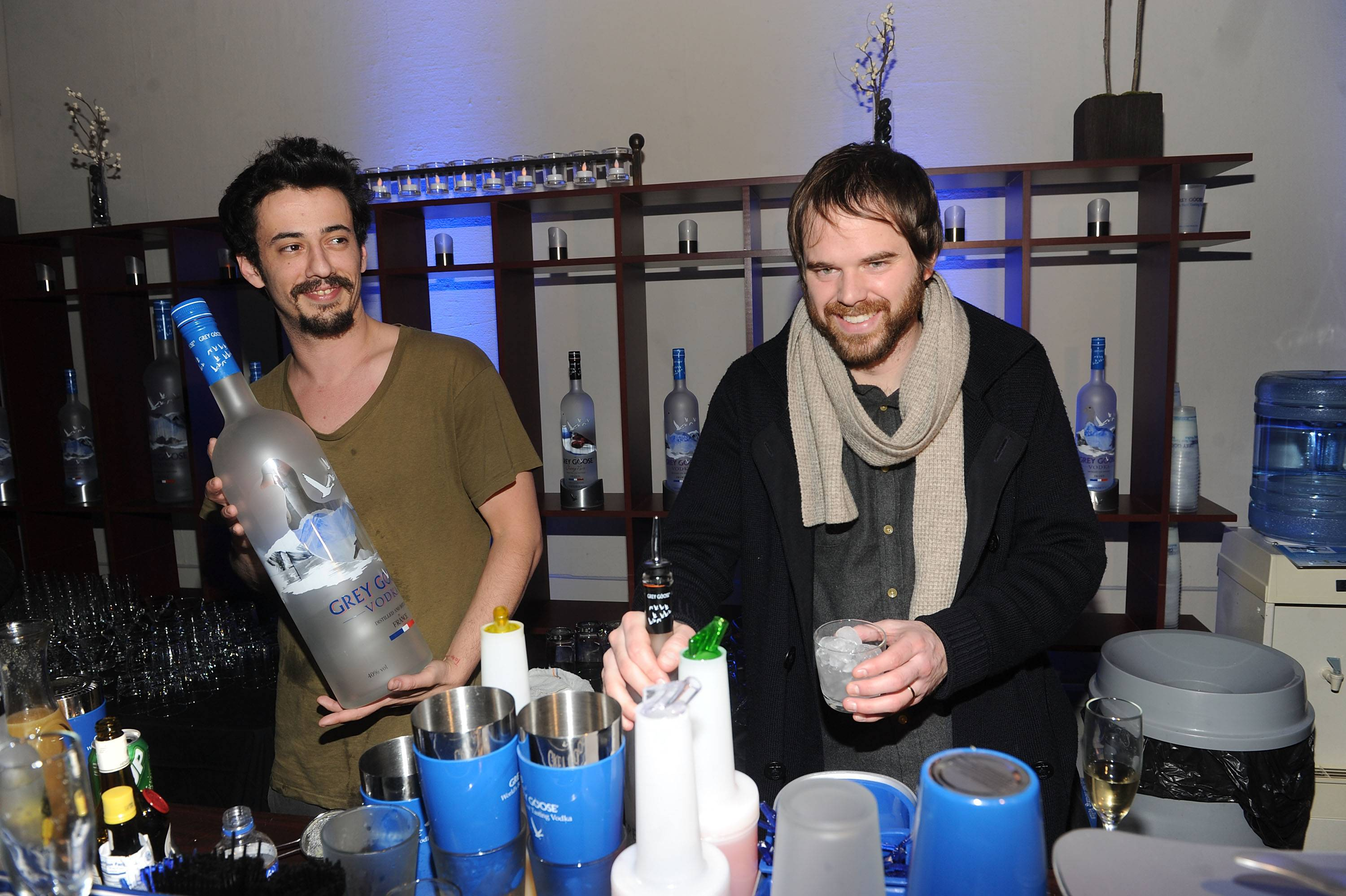 Josh Mond and Sean Durkin at the Simon Killer Dinner Party at the GREY GOOSE Blue Door at Sundance 1-21-12