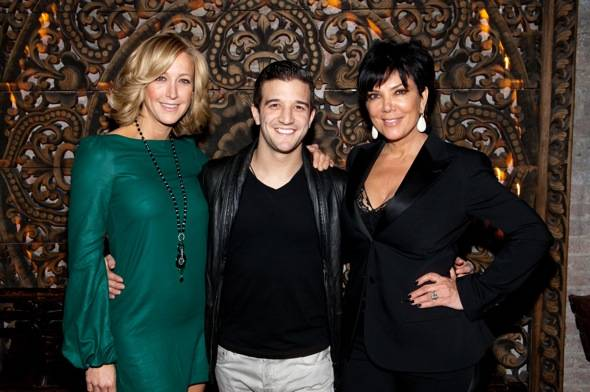 Lara Spencer, Mark Ballas, and Kris Jenner