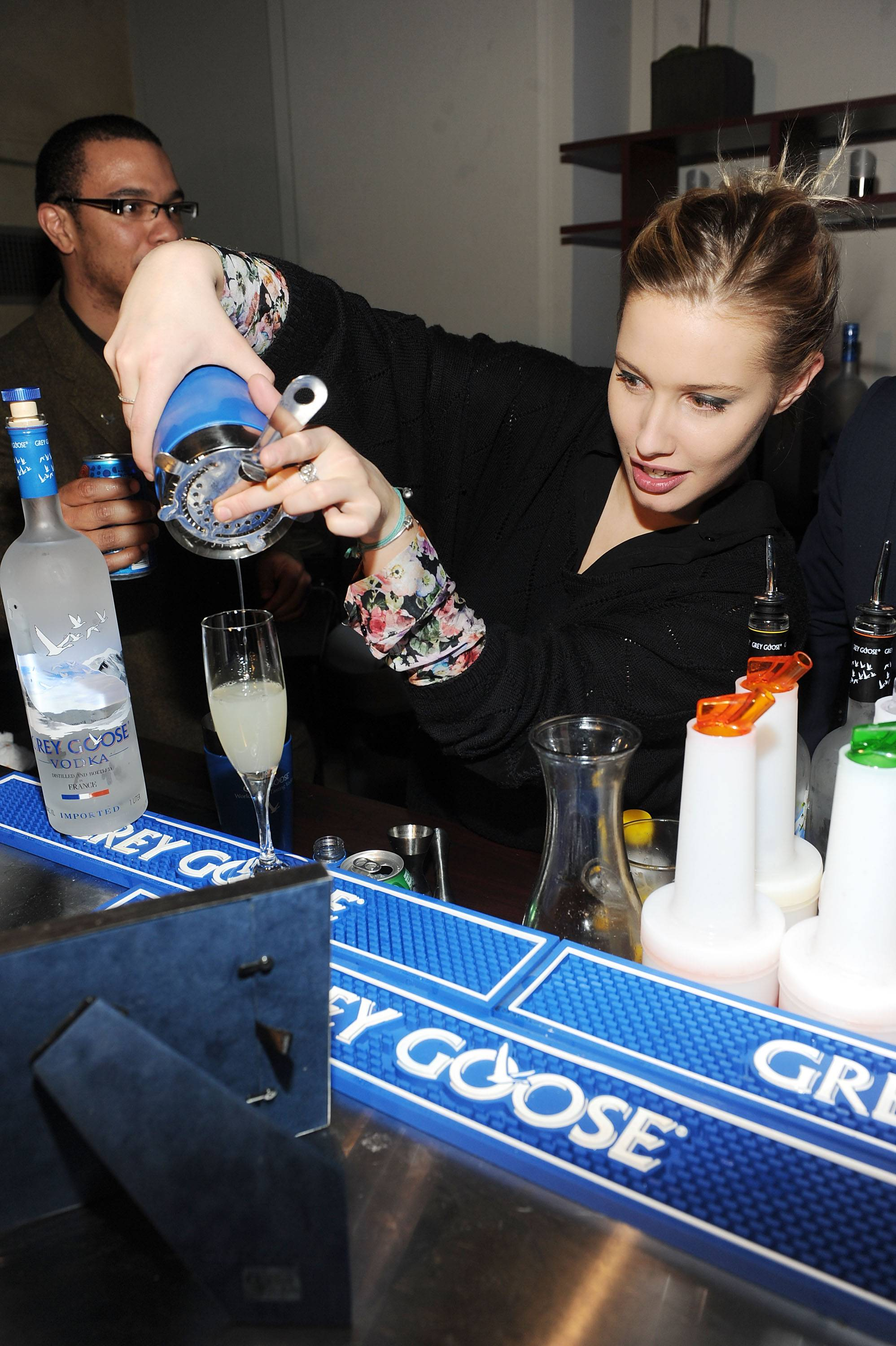 Lila Salet 2 at the Simon Killer Dinner Party at the GREY GOOSE Blue Door at Sundance 1-21-12